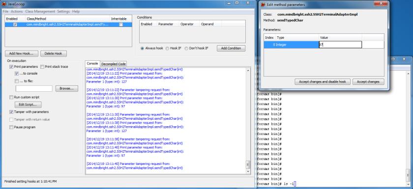 Tamper ls la Java method