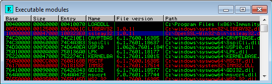 Find OpenSSL ssleay32 in executable modules