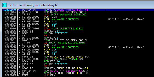 SSL_write of OpenSSL ASM code