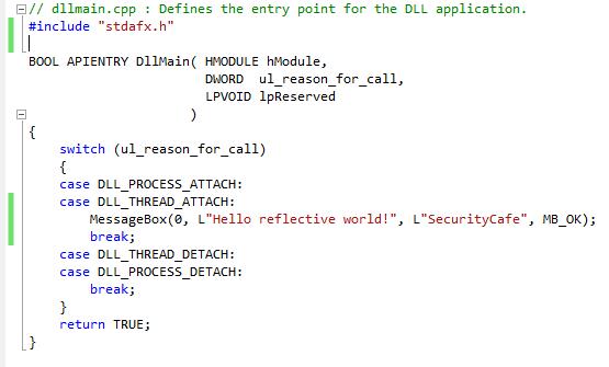 DLL code C++ DllMain