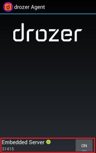 Start Drozer Agent