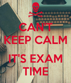Exam time - panic ahead